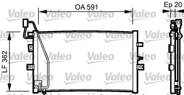 Condenseur, climatisation - VALEO - 814000