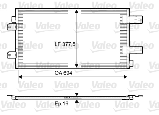 Condenseur, climatisation - VALEO - 814003
