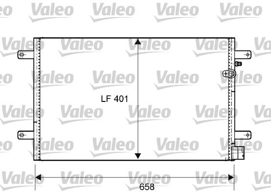 Condenseur, climatisation - VALEO - 814004