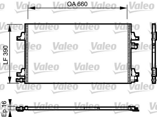 Condenseur, climatisation - VALEO - 814006