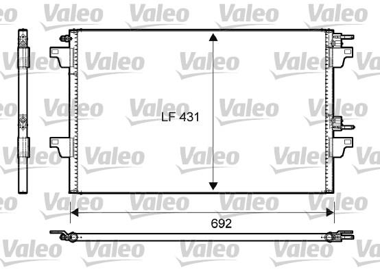 Condenseur, climatisation - VALEO - 814007