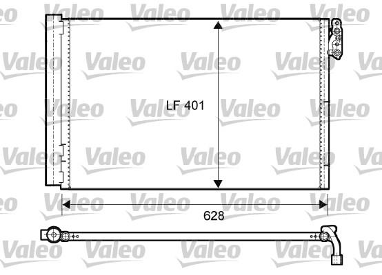 Condenseur, climatisation - VALEO - 814011