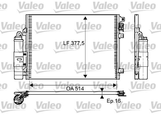 Condenseur, climatisation - VALEO - 814051