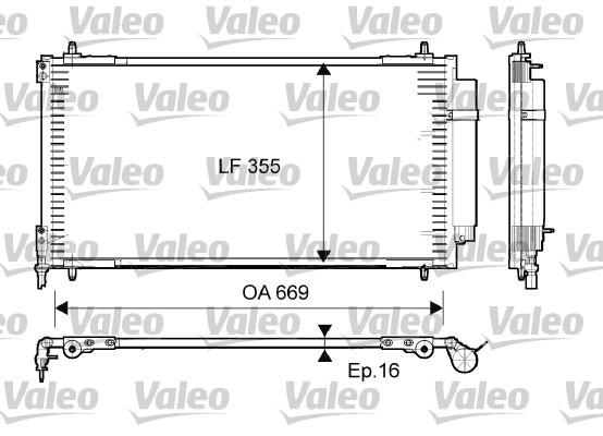 Condenseur, climatisation - VALEO - 814065