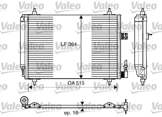 Condenseur, climatisation - VALEO - 814066