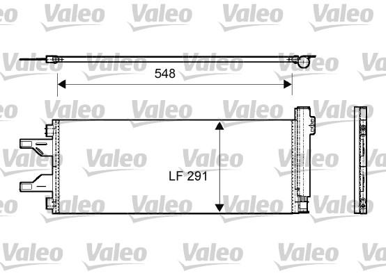 Condenseur, climatisation - VALEO - 814069