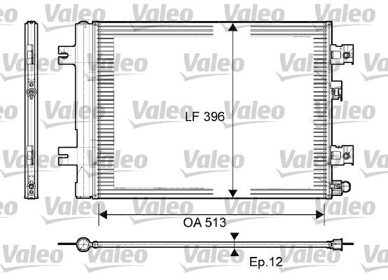 Condenseur, climatisation - VALEO - 814077