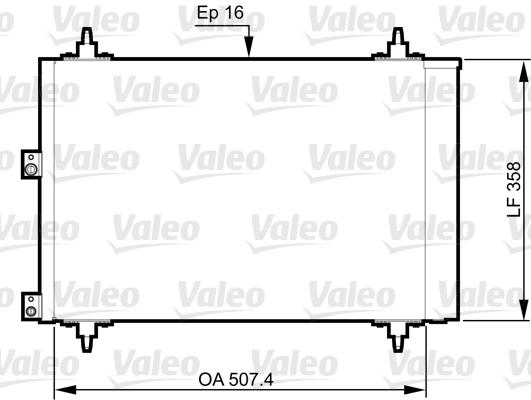 Condenseur, climatisation - VALEO - 814080