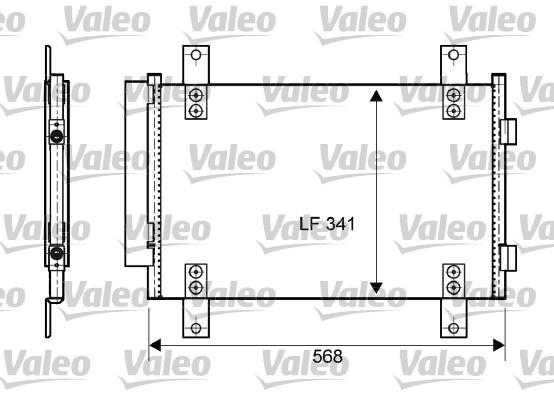 Condenseur, climatisation - VALEO - 814081