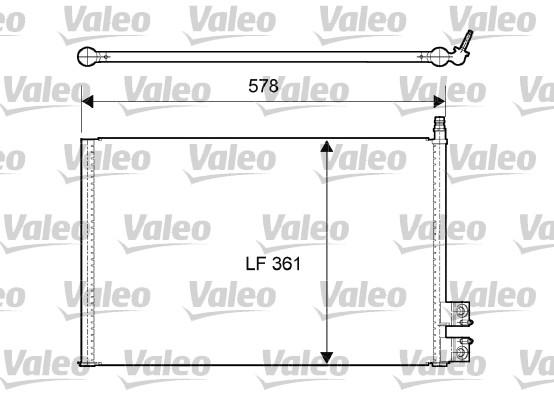 Condenseur, climatisation - VALEO - 814083