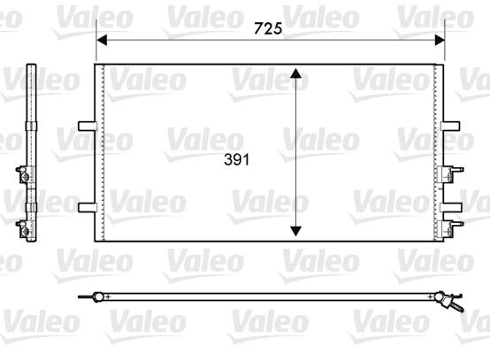 Condenseur, climatisation - VALEO - 814087