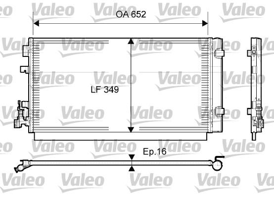 Condenseur, climatisation - VALEO - 814094