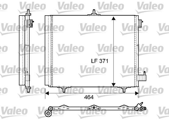 Condenseur, climatisation - VALEO - 814095