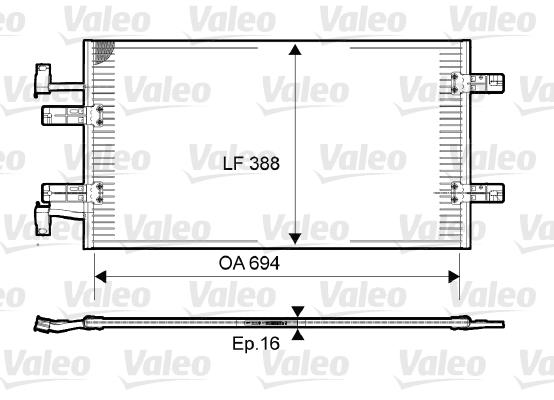 Condenseur, climatisation - VALEO - 814171