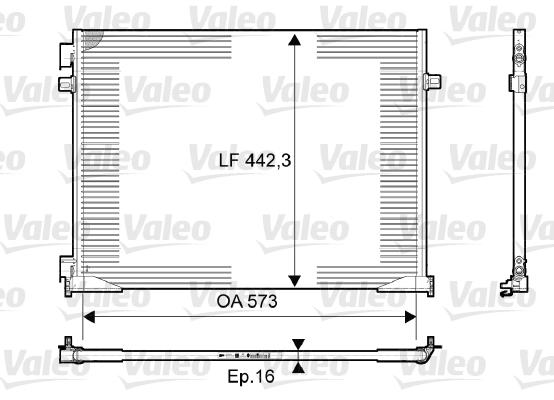 Condenseur, climatisation - VALEO - 814172