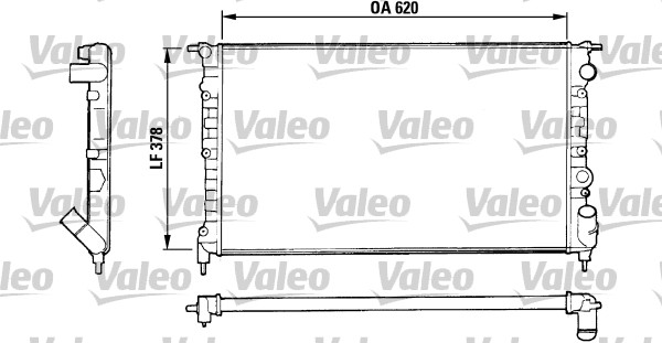 Radiateur, refroidissement du moteur - VALEO - 816552