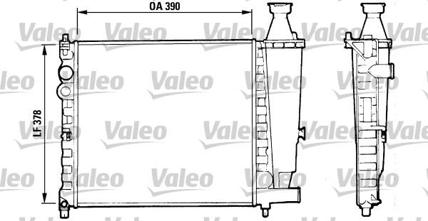 Radiateur, refroidissement du moteur - VALEO - 816555