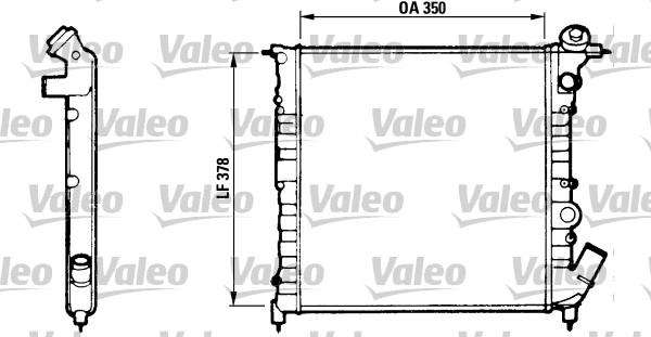 Radiateur, refroidissement du moteur - VALEO - 816654