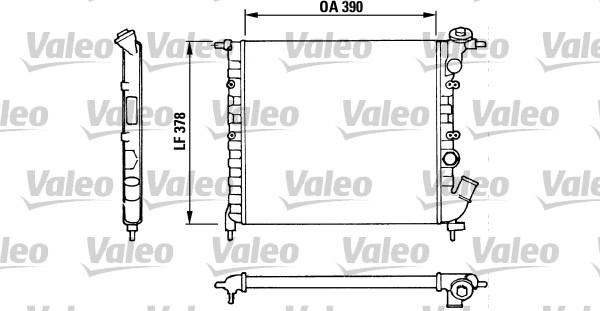 Radiateur, refroidissement du moteur - VALEO - 816655