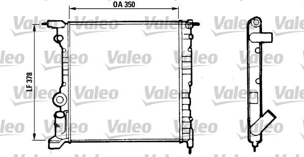 Radiateur, refroidissement du moteur - VALEO - 816656