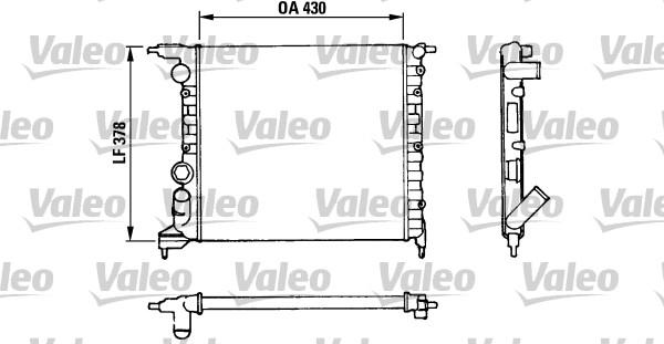 Radiateur, refroidissement du moteur - VALEO - 816658