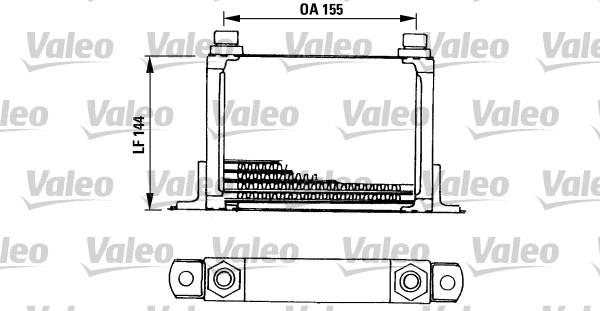 Radiateur d'huile - VALEO - 816666