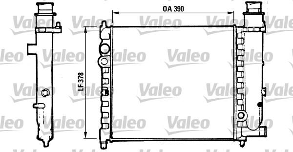 Radiateur, refroidissement du moteur - VALEO - 816700
