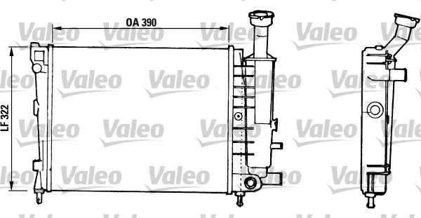 Radiateur, refroidissement du moteur - VALEO - 816706