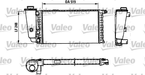 Radiateur, refroidissement du moteur - VALEO - 816707