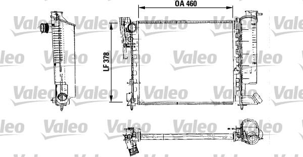 Radiateur, refroidissement du moteur - VALEO - 816715