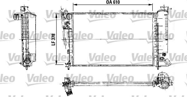Radiateur, refroidissement du moteur - VALEO - 816716