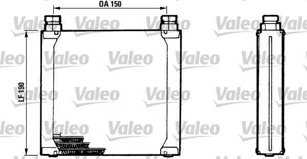 Radiateur d'huile - VALEO - 816748