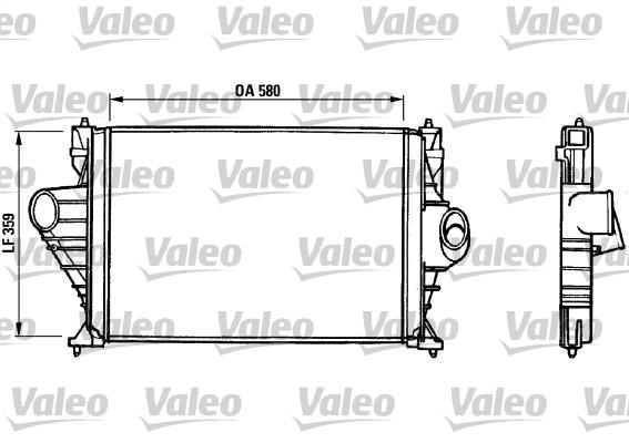 Intercooler, échangeur - VALEO - 816823