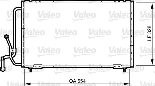 Condenseur, climatisation - VALEO - 816835