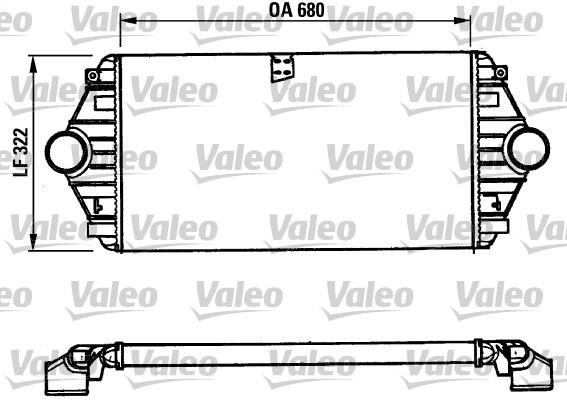 Intercooler, échangeur - VALEO - 816851