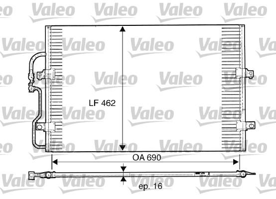 Condenseur, climatisation - VALEO - 816852