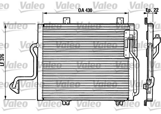 Condenseur, climatisation - VALEO - 816863