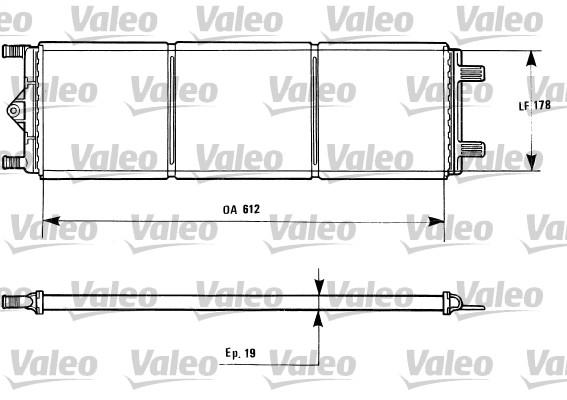 Radiateur, refroidissement du moteur - VALEO - 816868