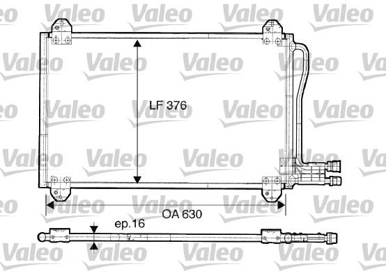 Condenseur, climatisation - VALEO - 816891