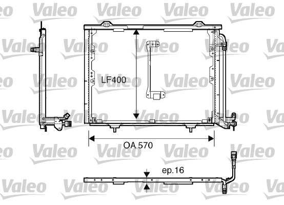 Condenseur, climatisation - VALEO - 816900