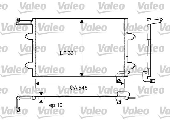 Condenseur, climatisation - VALEO - 816910