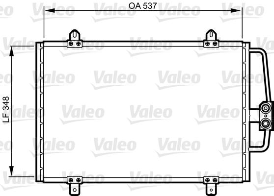 Condenseur, climatisation - VALEO - 816912