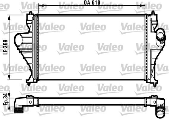 Intercooler, échangeur - VALEO - 816918