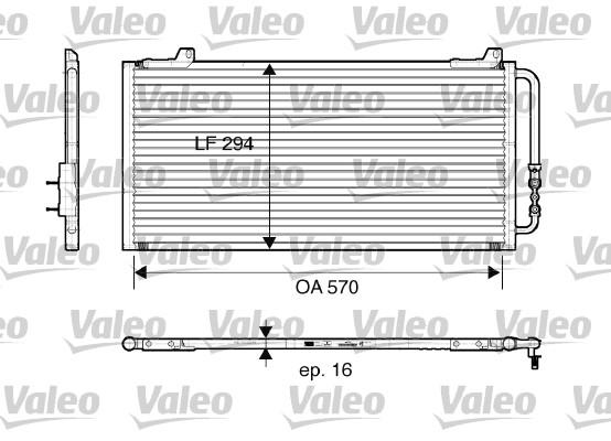 Condenseur, climatisation - VALEO - 816921