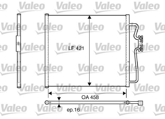 Condenseur, climatisation - VALEO - 816922