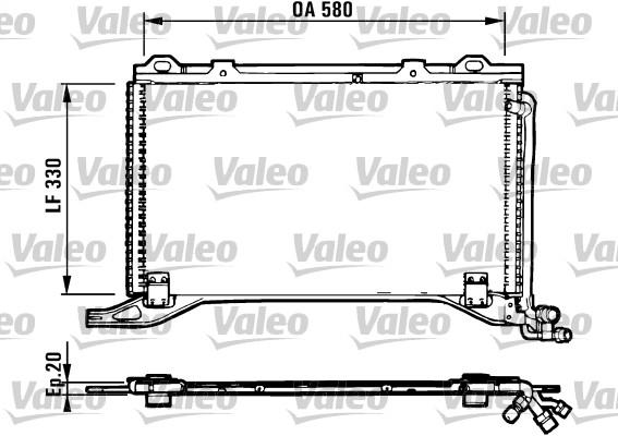 Condenseur, climatisation - VALEO - 816949