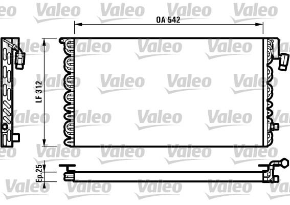 Condenseur, climatisation - VALEO - 816964
