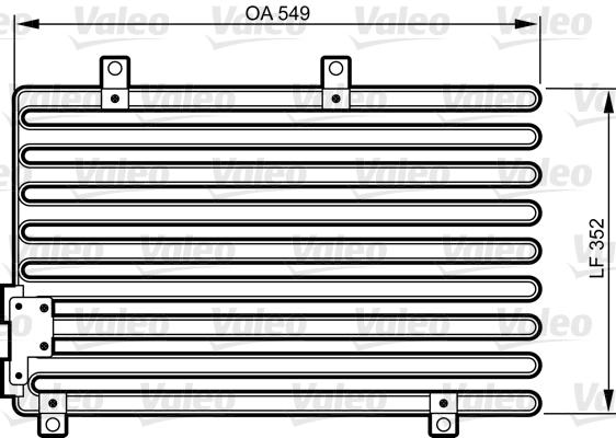Condenseur, climatisation - VALEO - 816973
