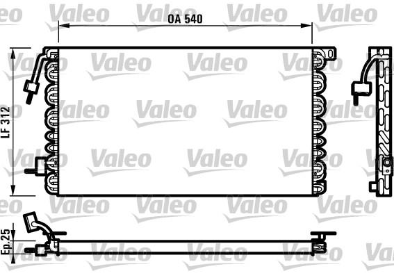 Condenseur, climatisation - VALEO - 816977