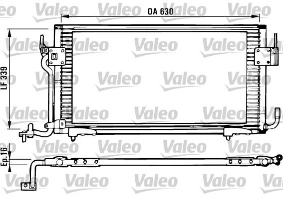 Condenseur, climatisation - VALEO - 816984